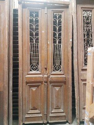 Antieke dubbele deur 109 x 252 cm