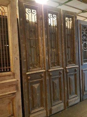 Antieke 3 slag deur 164 x 254 cm