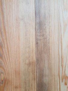 32,64 m2 Massieve pine vloer 170 mm breed verouderd en grijs geolied