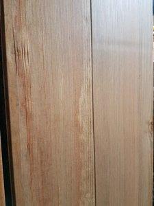 15,7 m2 Massieve pine vloer verouderd en grijs geolied