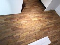 Solid hardwood tiles