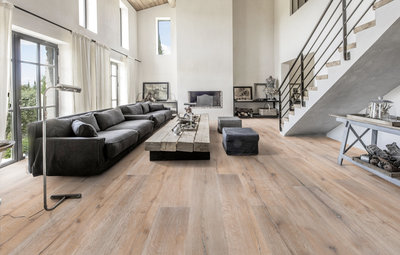 Extra wide Oak floor XXL Multilayer aged white 270mm wide