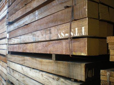 Hartholz Pfosten Holzbalken 155x155mm