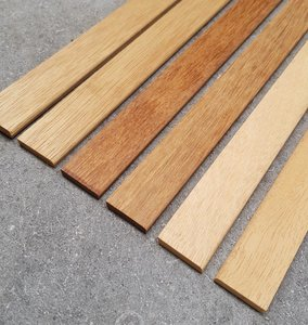 Solid wooden skirting boards in various types of wood