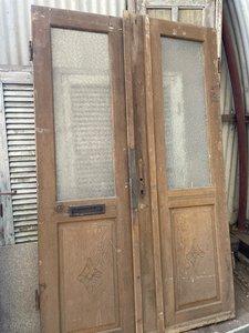 Vintage dubbele voordeur