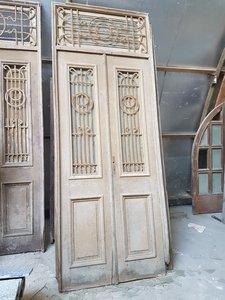 Antieke dubbele deur 120 x 310 cm