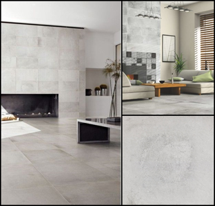 57.6 m2 Industriële tegels Eleganza Varese Cenere.