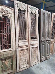 Antieke dubbele deur 123 x 263 cm