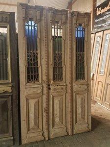 Antieke 3 slag deur 152 x 262 cm