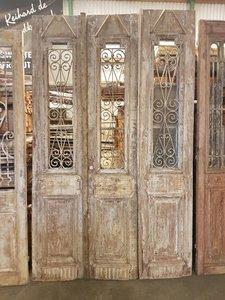 Antieke 3 slag deur 155 x 254 cm