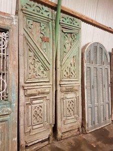 Antieke dubbele deur 140 x 262 cm