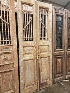 Antieke dubbele deur 102 x 248 cm