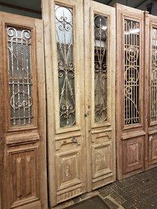 Antieke dubbele deur 116 x 280 cm