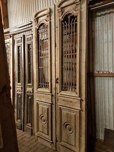 Antieke dubbele deur 123 x 277 cm
