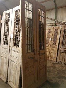 Antieke dubbele deur 121 x 277 cm