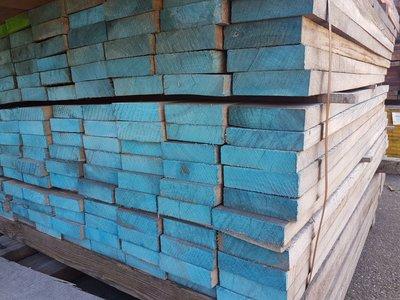 128 stuks Hardhouten balken 40x125 mm x 156 cm